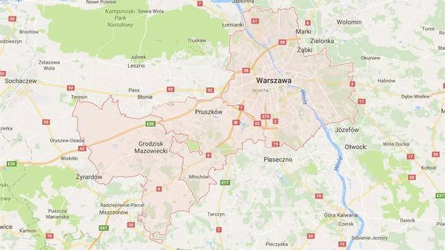 mapa mazowieckie