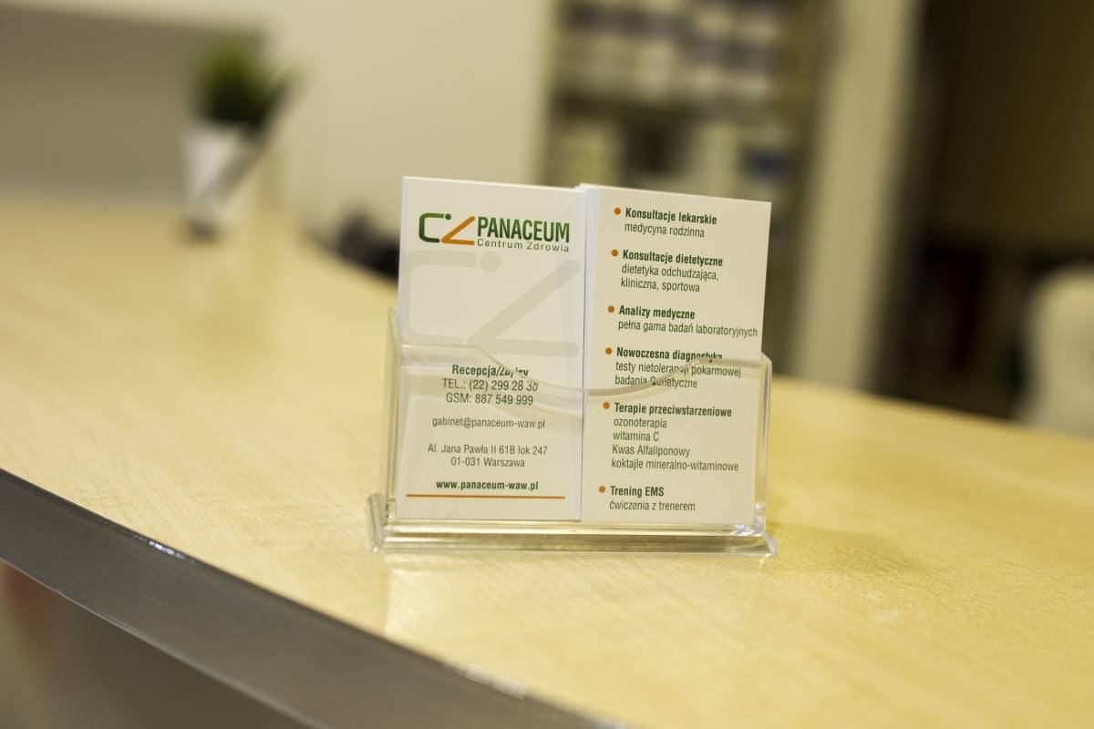 wnętrze Centrum Zdrowia Panaceum
