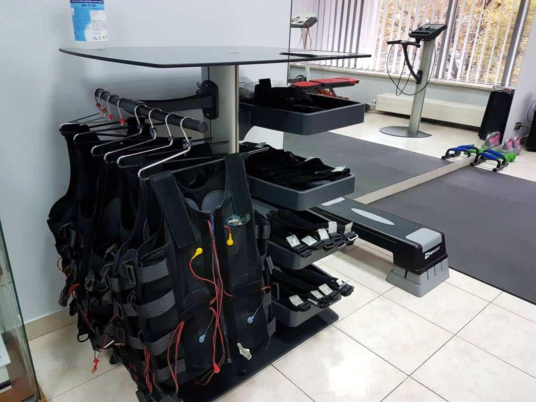 komplet sprzętu do treningu EMS